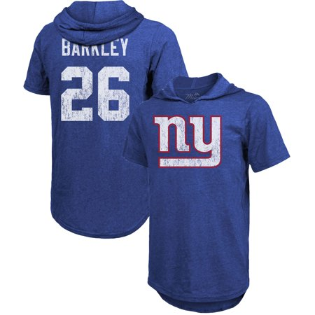 huge discount e30df 69369 Saquon Barkley New York Giants Majestic Threads Name & Number Tri-Blend  Hooded T-Shirt - Royal