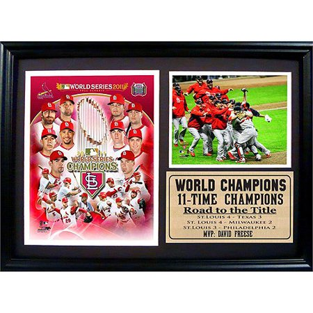 Champions Photograph (MLB St. Louis Cardinals Champions Photo Stat Frame, 12x18 )