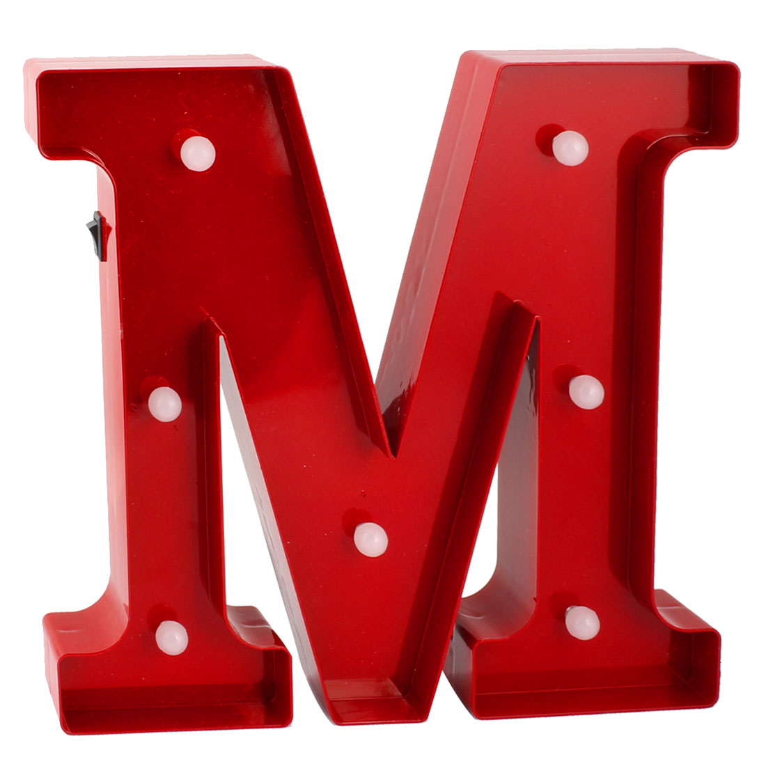 Coffee Shop Plastic Decor English M Letter Alphabet DIY Hanging LED Light Red - image 4 de 4