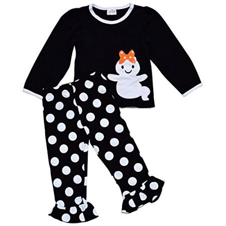 Unique Baby Girls 2 Piece Ghost Halloween Outfit (7) (Girl Halloween Outfit)