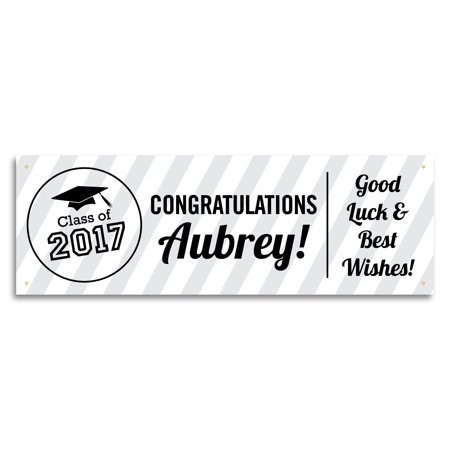 Personalized Graduation Banner, White