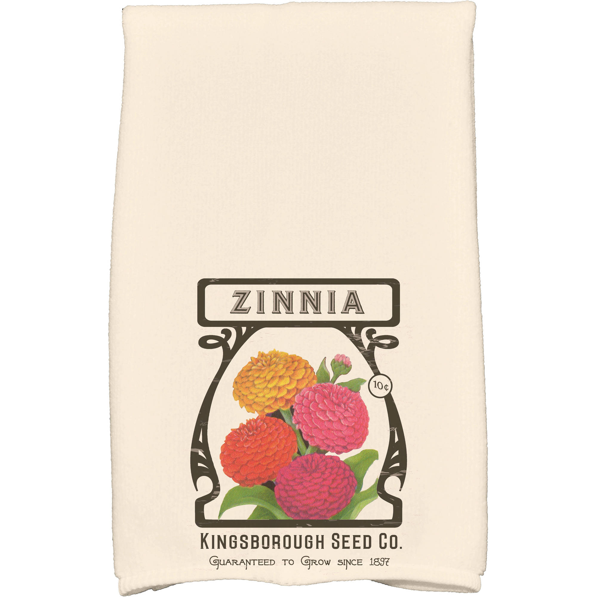 "Simply Daisy 16"" x 25"" Zinnia Floral Print Kitchen Towel by E By Design"