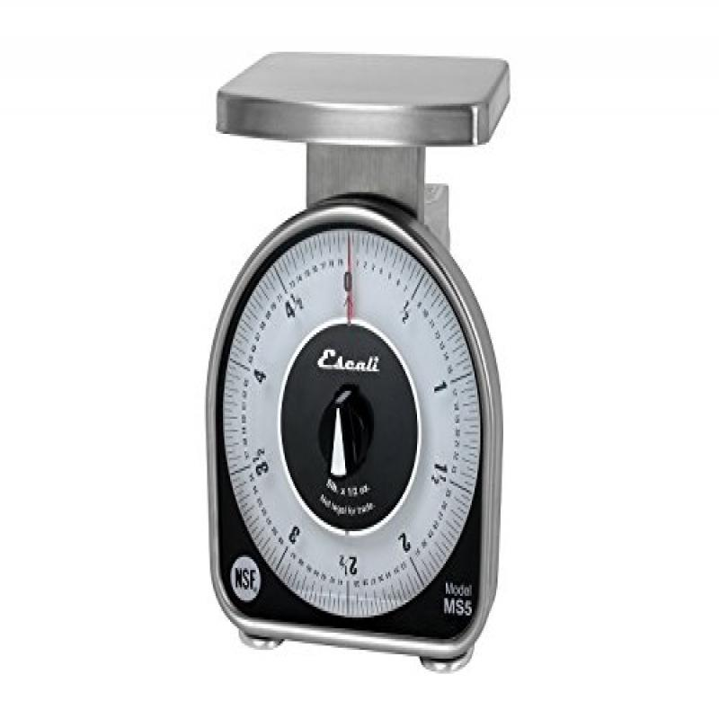 Escali MS-Series NSF Listed Dial Scale, 5 lb/80 oz, Silver