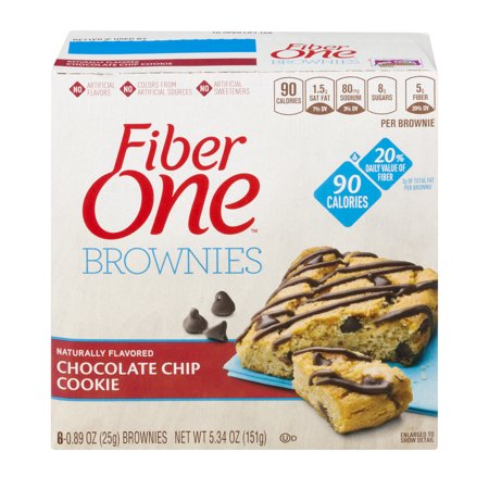 Fiber One 90 Calorie Brownie Chocolate Chip Cookie 6   0 89 Oz Brownies