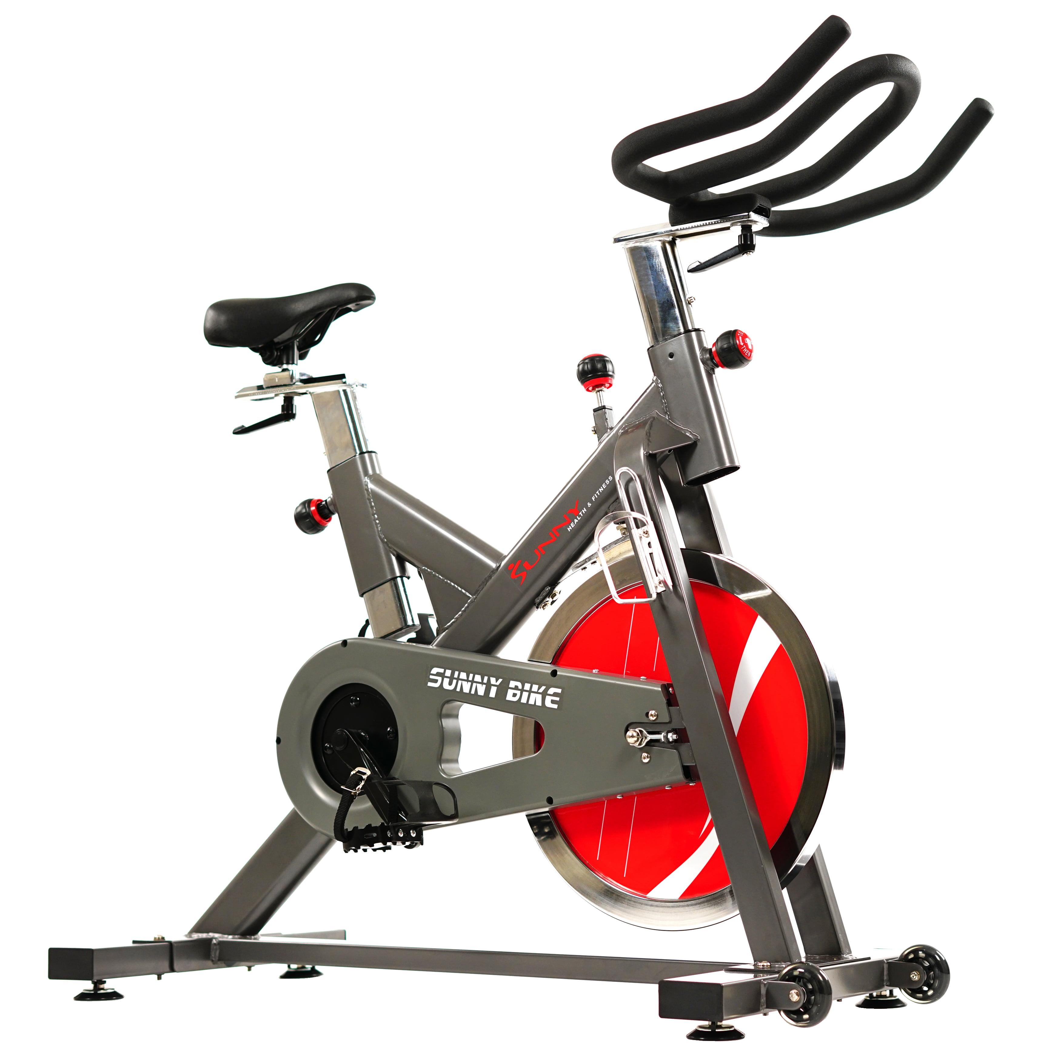 Sunny Belt Drive Indoor Cycling Bike - 44 lb Flywheel, Ad...