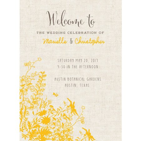 Wildflower Fields Standard Program Card - Fan Wedding Programs
