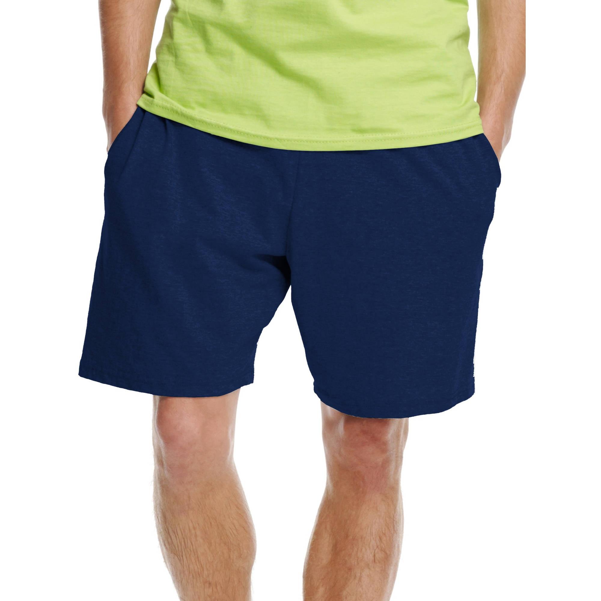 Hanes Big Men's Jersey Pocket Shorts
