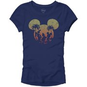 905da8791 Disney Mickey Mouse Sunset Silhouette Disneyland World Tee Funny Humor  Women's Juniors Slim Fit Graphic T