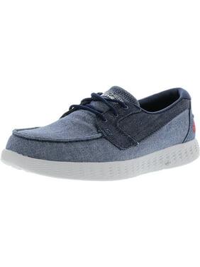 990ebc325753 Product Image Skechers Men s On-The-Go Glide Coastline Denim Ankle-High  Fabric Walking Shoe