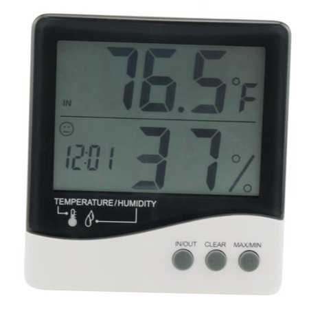 Grower's Edge Large Display Thermometer / Hygrometer (Large Thermometer)