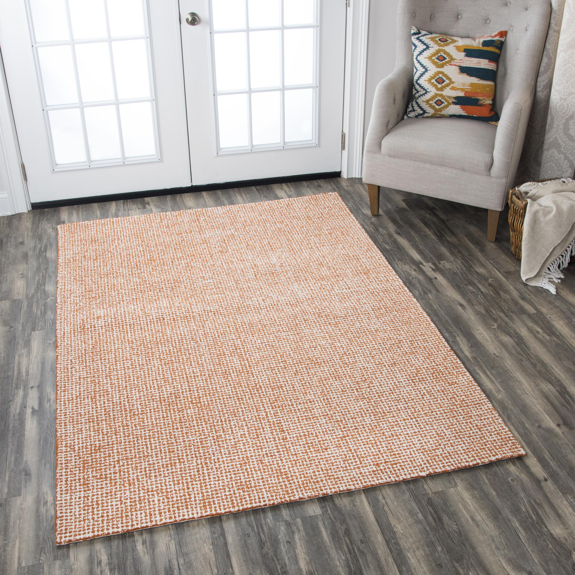 Rizzy Home BR652A Orange 9' x 12' Hand-Tufted Area Rug