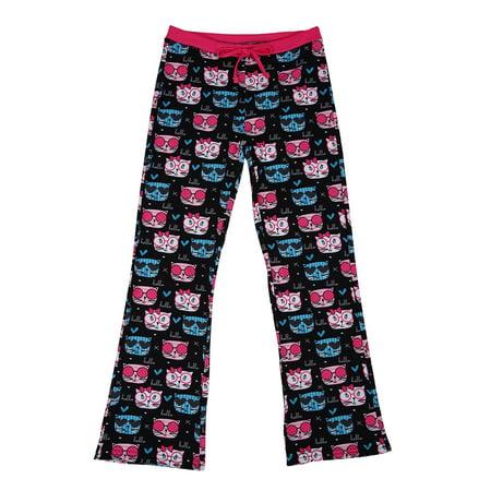 Large Pajama Lounge Pants - HDE Girl's Pajama Pants Soft Sleepwear Casual Loose Lounge PJ Bottoms (Hello Cats, Large | 10/12)