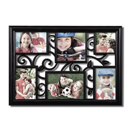 Ademco Home Alarm (Adeco Trading 6 Opening Decorative Filigree Wall Hanging Collage Picture)
