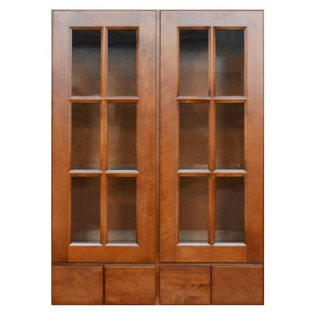 Sunny Wood Esw3042gd4 A Ellisen 30 X 42 Wall Cabinet With Gl Doors