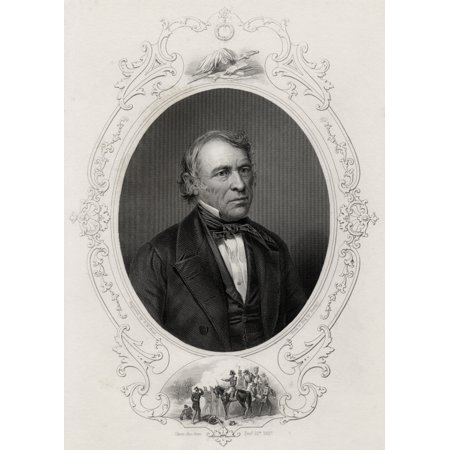 Zachary Taylor 1784-1850 American Military Leader And 12Th President Of The United States Of America From A 19Th Century Print Engraved By T W Hunt From A Daguerreotype By Brady Canvas Art - Ken Welsh