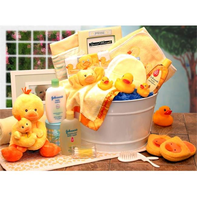 Gift Basket Drop Shipping 89091-Y Bath Time Baby New Baby Basket Yellow by Gift Basket Drop Shipping