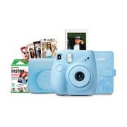 Fuji Instax Mini 7+ Camera Bundle - Ltblue