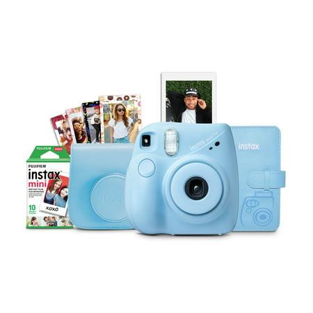 Fujifilm Instax Mini 7+ Camera Bundle- Light Blue