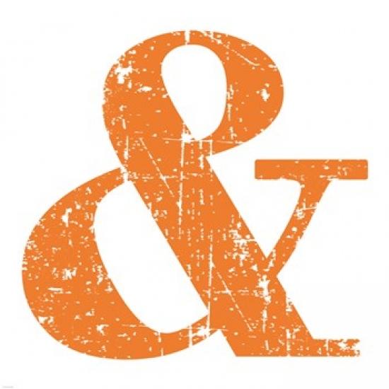 Orange Ampersand Poster Print by Veruca Salt (20 x 20)