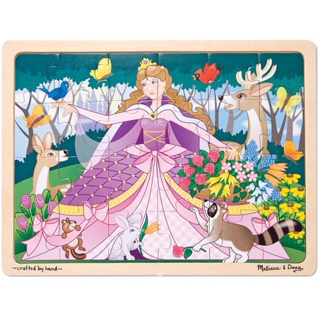 30cabe95f79d Melissa   Doug Woodland Fairy Princess Wooden Jigsaw Puzzle With Storage  Tray (24 pcs) - Walmart.com