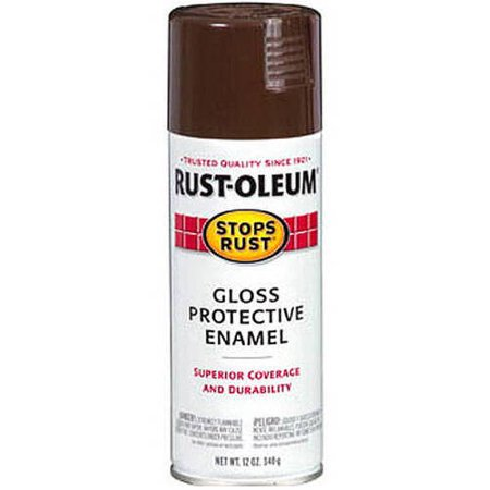 (3 Pack) Rust-Oleum Stops Rust Gloss Protective Enamel Leather Brown Spray Paint, 12 - Dark Brown Leather Finish
