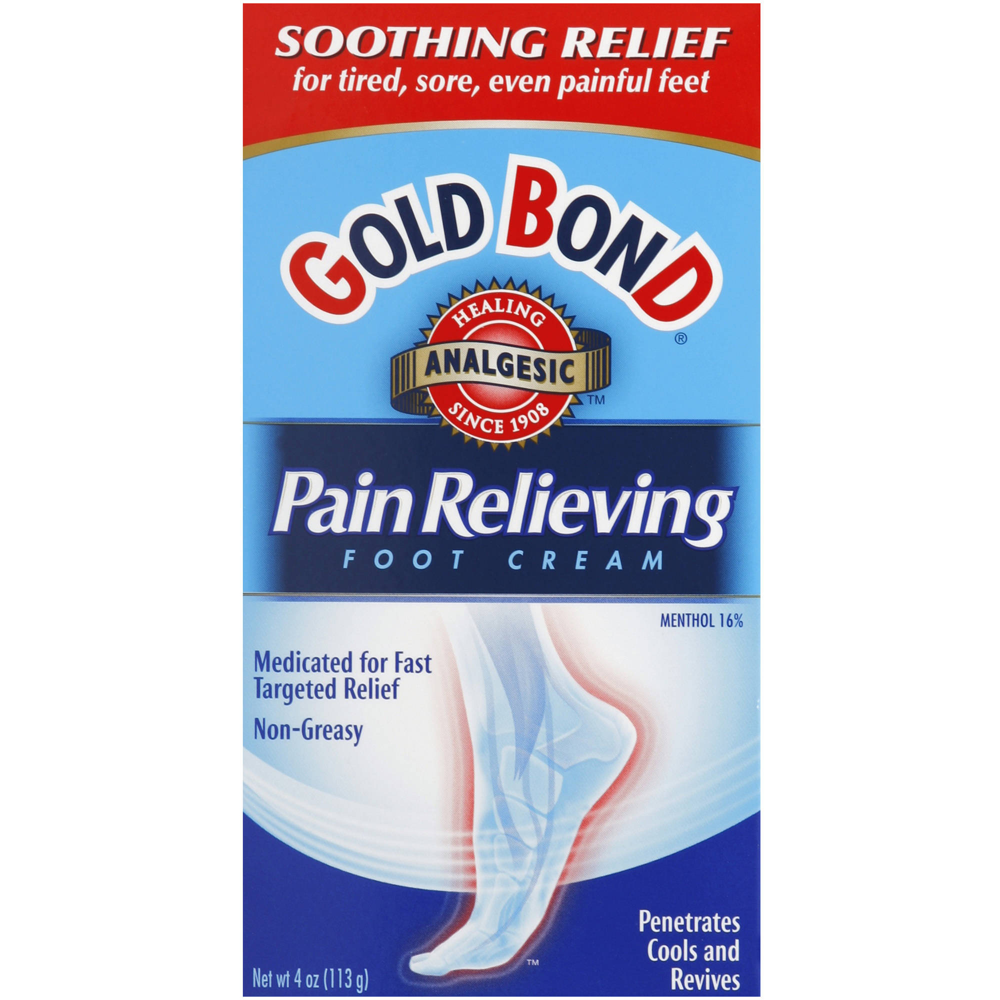 Gold Bond Pain Relieving Foot Cream, 4 oz
