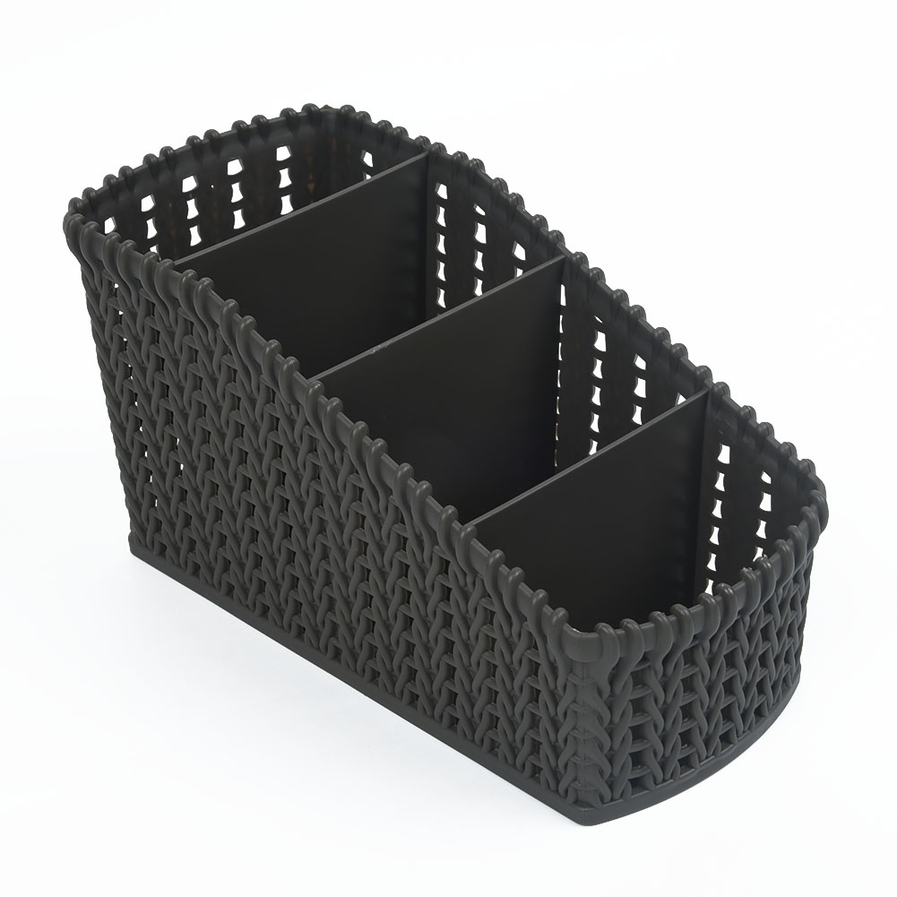 Storage Basket Plastic Crate 4 Gradient Slots Box School Office Tidy Organizer