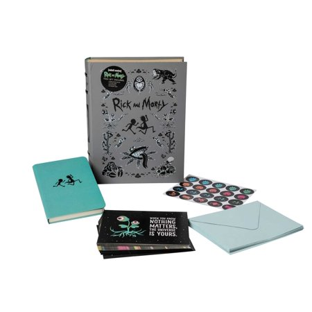 Rick and Morty Deluxe Note Card Set (With Keepsake Book (Box Note Set)