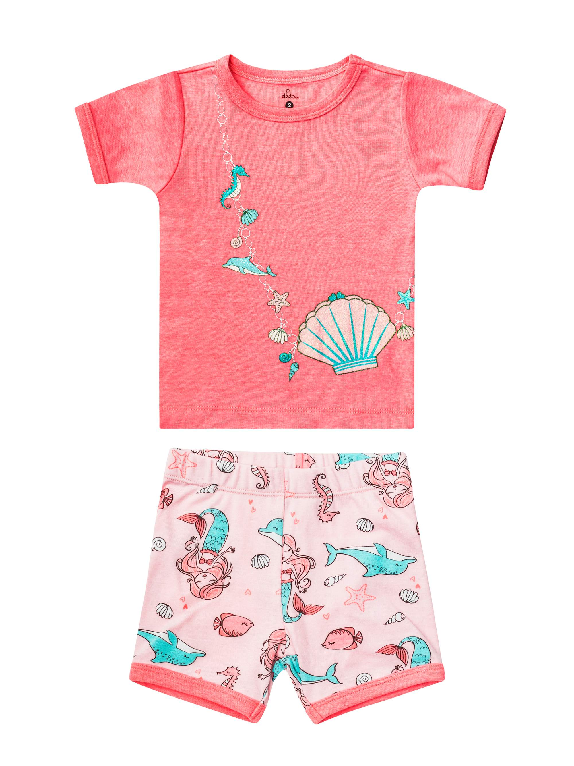 Top & Shorts, 2pc Pajama Set (Toddler Girls)