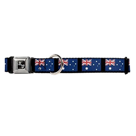 Buckle Down Australia Flags Dog Collar Bone