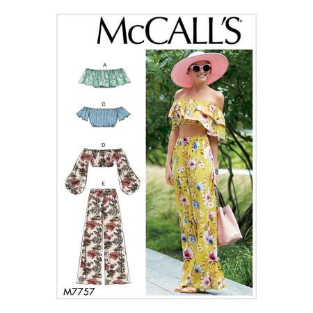 edc6ed8dd2de6 McCall's Sewing Pattern Misses' Tops and Pants-L-XL - Walmart.com