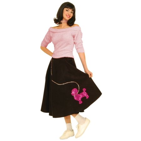Pink Sock-Hop Top Adult Halloween Costume, Size: Women's - One Size