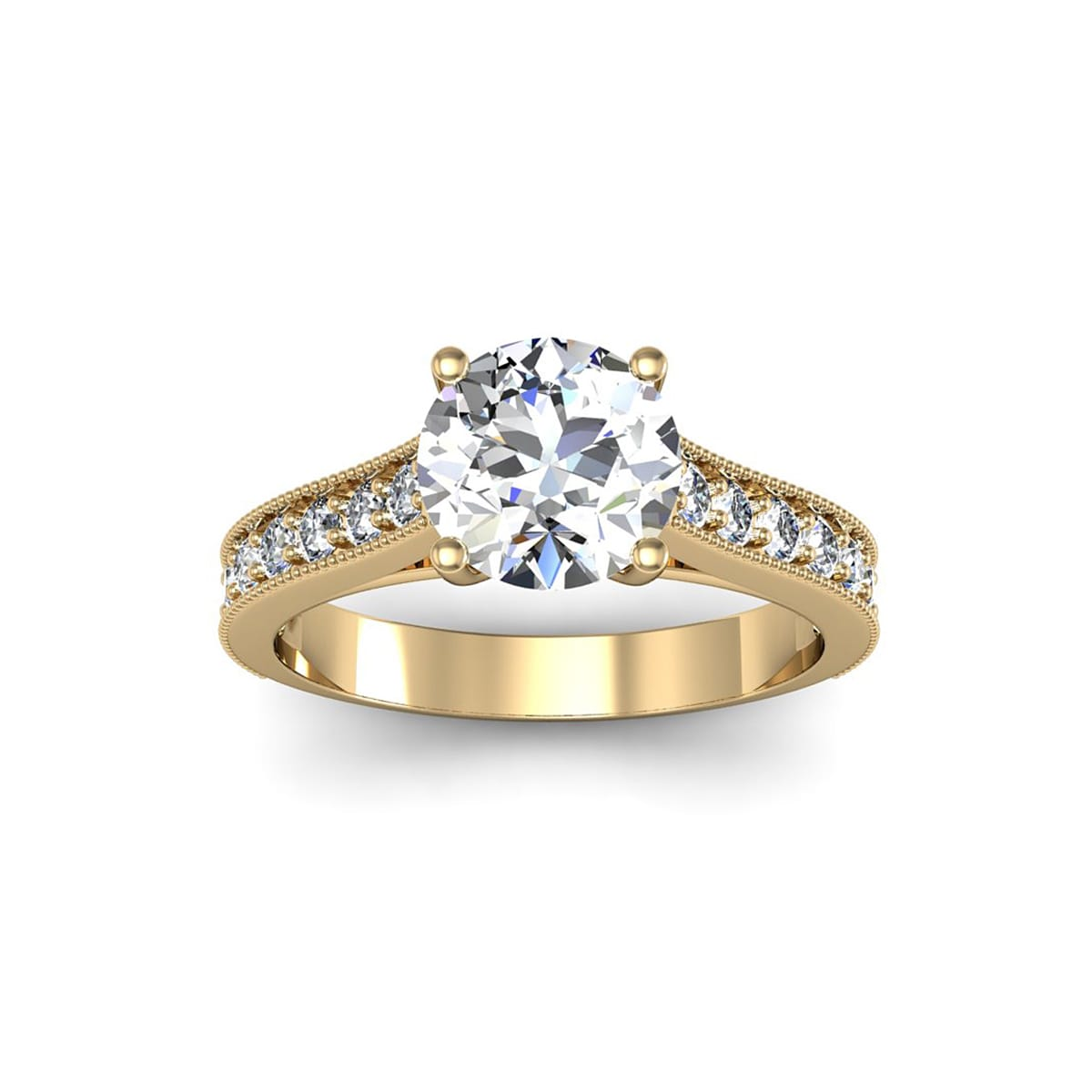 SuperJeweler 14k Yellow Gold 2ct. Solitaire Diamond Engagement Ring with 1 1 2ct. Clarity Enhanced Center Diamond White... by Overstock
