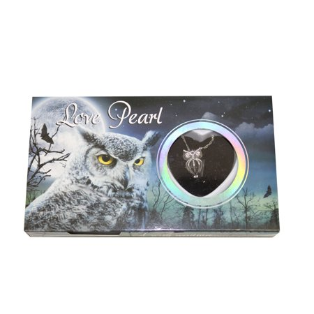 Hoot Owl Love Wish Pearl Kit Cultured Pearl Necklace Set with Stainless Steel Chain 16