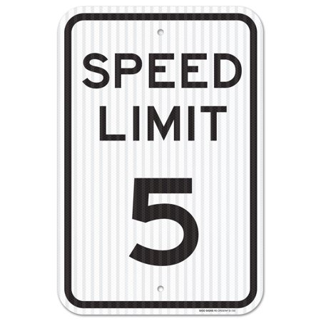 Speed Limit 5 MPH Sign, Federal 12