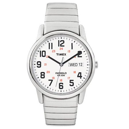 Men's Timex Easy Reader Expansion Band Watch - Silver T204619J