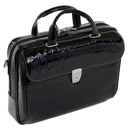 Siamod IGNOTO 35515 Black Leather Large Ladies' Laptop Brief