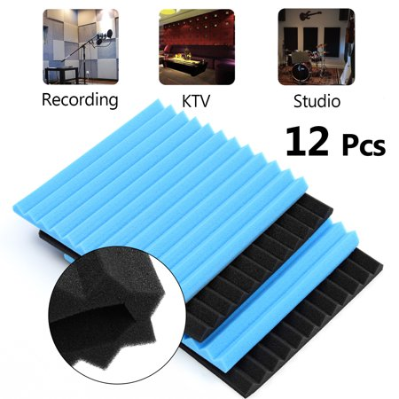 12PCS Soundproofing Foam Tiles Acoustic Anti Noise Sound-Absorbing Foam Fire Retardant Tile Acoustic Foam KTV Accessories 30x30cm