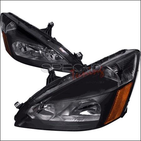 Crystal Housing Headlights for 03 to 07 Honda Accord, Black - 12 x 20 x 25 in.