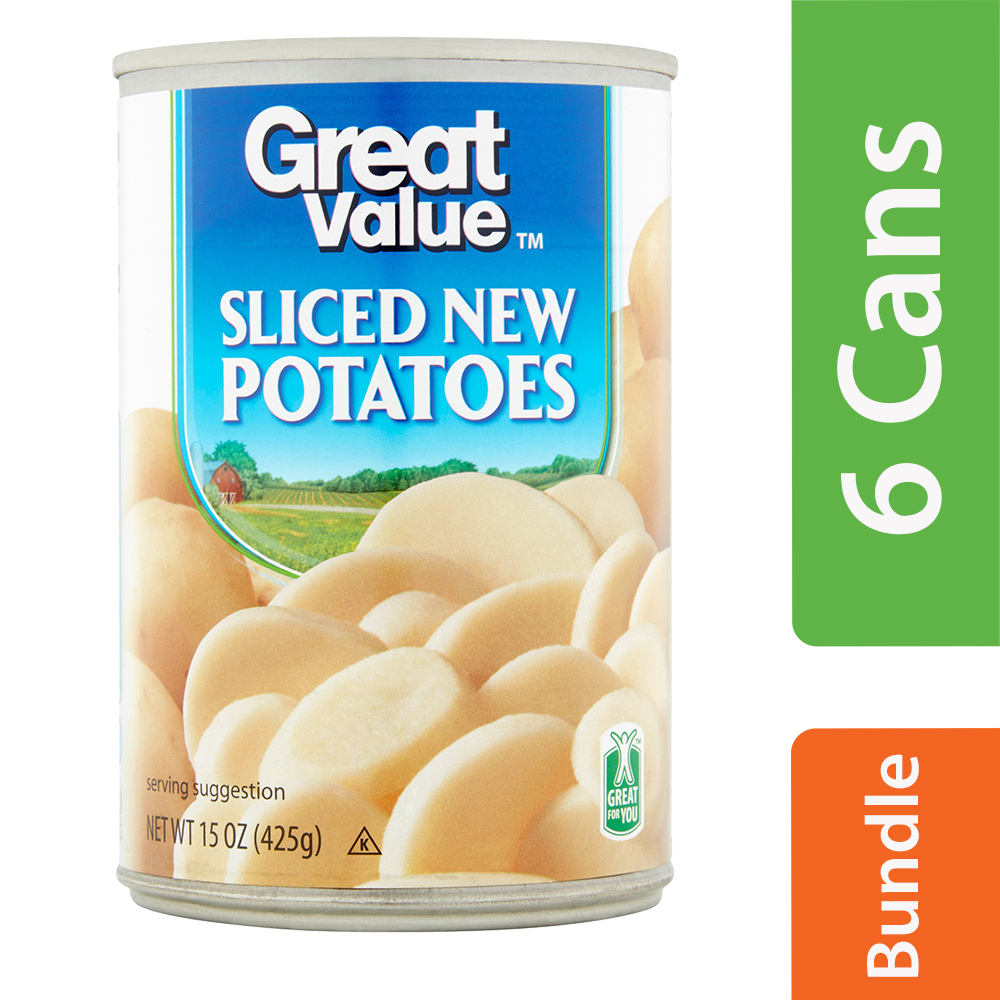Great Value Sliced Potatoes, 15 Oz (6 Packs)