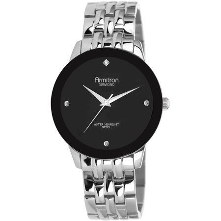 Armitron Men's Dress Round Watch, Silver Bracelet