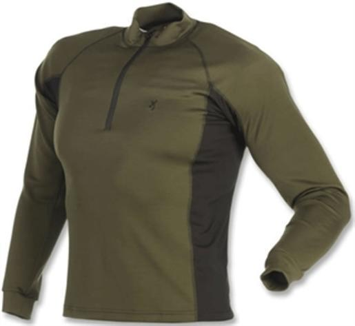 Browning 30119129-S Men's Full Curl Wool Base Layer Top 1 4 Zip Loden Small by Browning