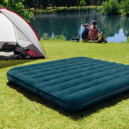 Intex Queen 10  Standard Durabeam Airbed The Intex 10  Queen Standard Durabeam Airbed with Fiber-Tech Construction is versatile and perfect for both in-home and camping. This compact airbed is built for long-lasting durability.