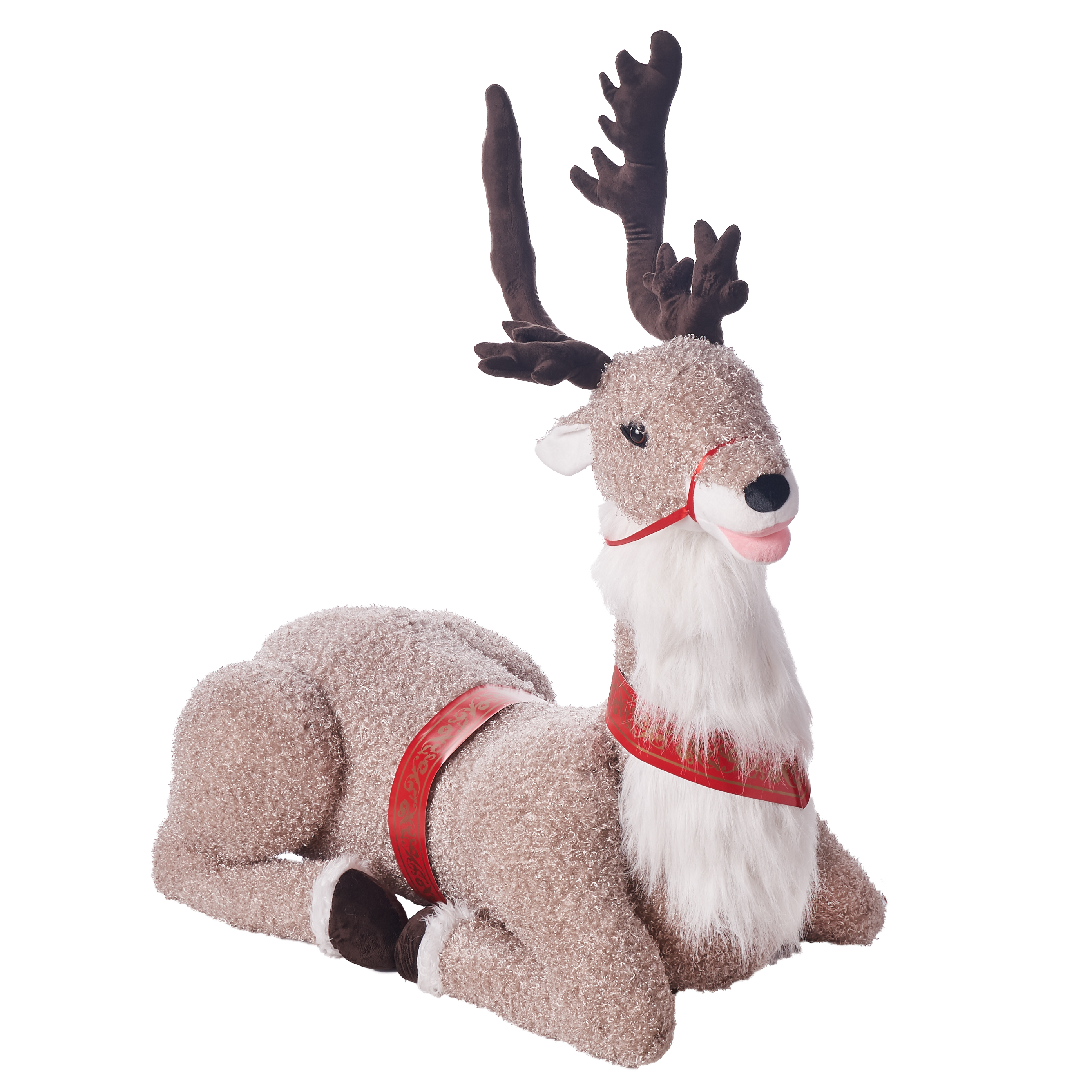 Holiday Time Life Size Animated Reindeer 4 5 Walmart