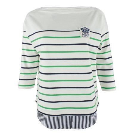 100% Silk Top (Lauren Ralph Lauren Women's Plus Layered Cotton Top)