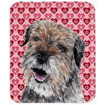 Carolines Treasures SC9557MP 7.75 x 9.25 In. Border Terrier Valentines Love Mouse Pad, Hot Pad or Trivet - image 1 de 1