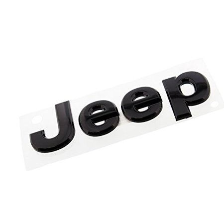 2014 Jeep Wrangler Glossy Black Jeep Front or Rear Emblem Nameplate Decal Mopar