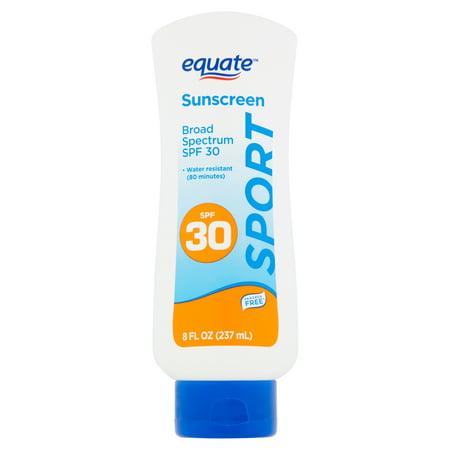 (2 pack) Equate Sport Broad Spectrum Sunscreen Lotion, SPF 30, 8 fl oz