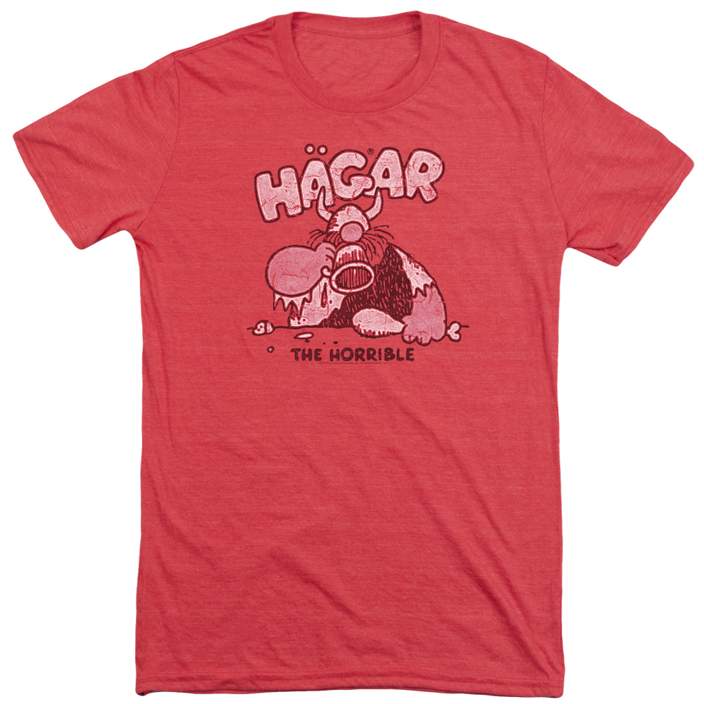 Hagar The Horrible Hagar Gulp Mens Tri-Blend Short Sleeve Shirt