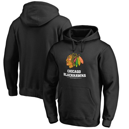 - Chicago Blackhawks Big & Tall Team Lockup Pullover Hoodie - Black